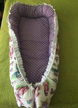 Кокон гнездышко подушка для младенцев