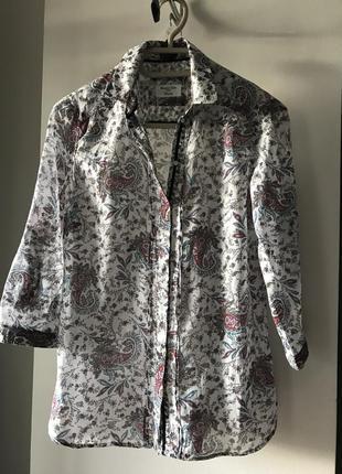 Блуза рубашка massimo dutti коттон