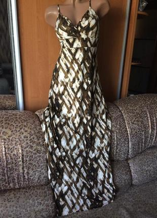 Трикотажный сарафан летнее платье размер m l 10-12 44-46