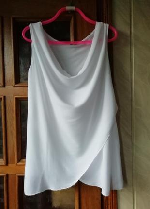 Белоснежная итальянская блуза, 95%вискоза