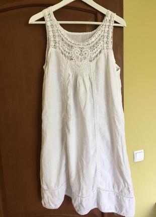Льняное платье итальянское идеально в жаркие дни