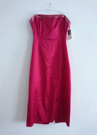 Вечернее открытое платье next с бисером