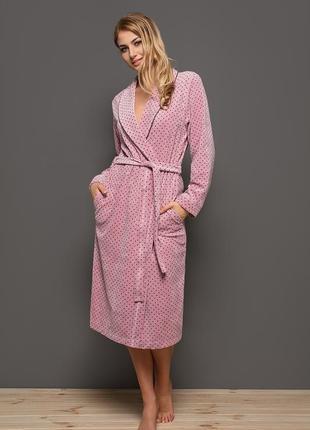 Велюровый женский халат. размер 2xl.