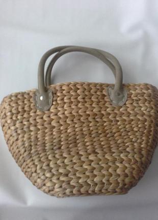 Большая  соломенная сумка