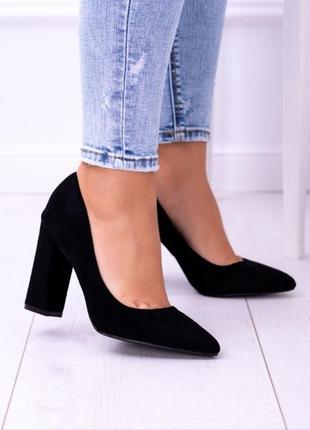 Туфли лодочки на устойчивом каблуке, есть размеры!