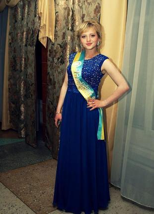 Шикарное выпускное платье.