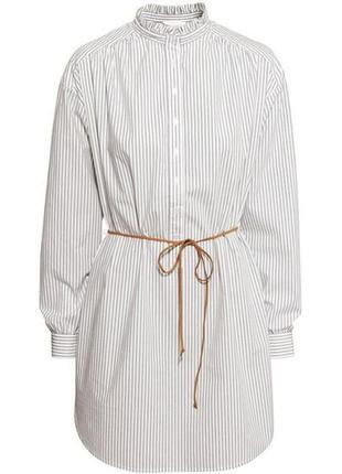 Легкое летнее прямое вискозное платье рубашка h&m, удлиненная рубашка оверсайз