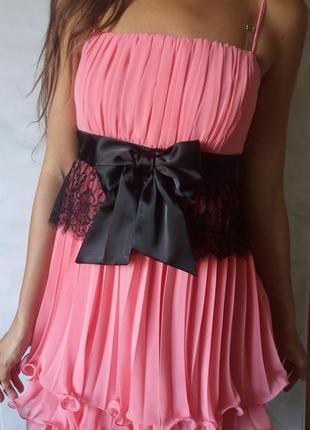 Платье выпускное вечернее кораллового цвета