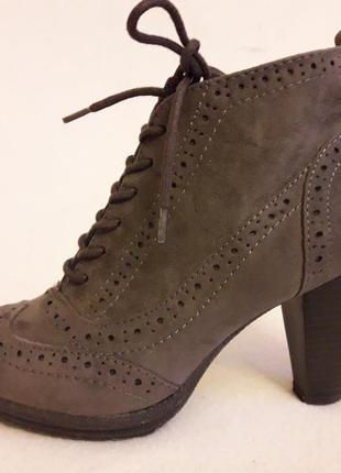 Стильные ботинки броги фирмы graceland ( германия) р. 36 стелька 23,5 см
