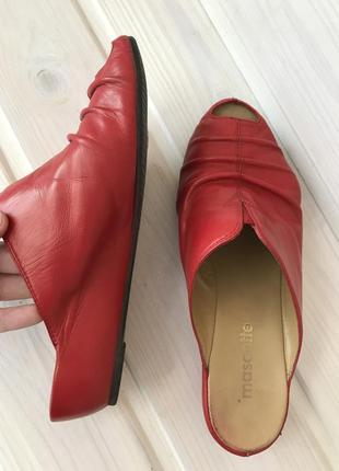 Кожаные мюли mascotte красные сабо кожаные босоножки открытый пальчик 36 размер