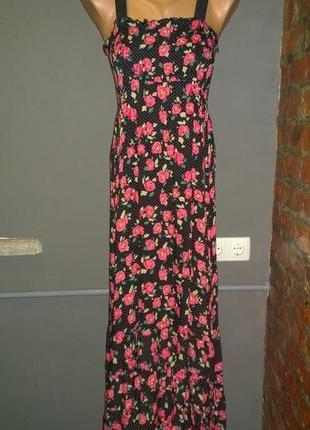 Длинное платье макси из коттона/хлопка maggie+me