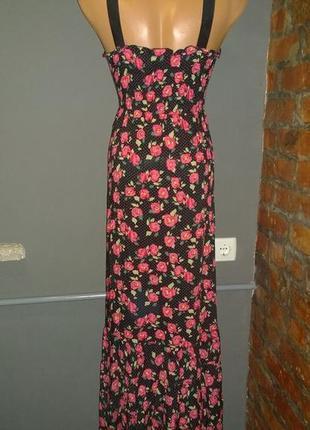 Длинное платье макси из коттона/хлопка maggie+me2 фото