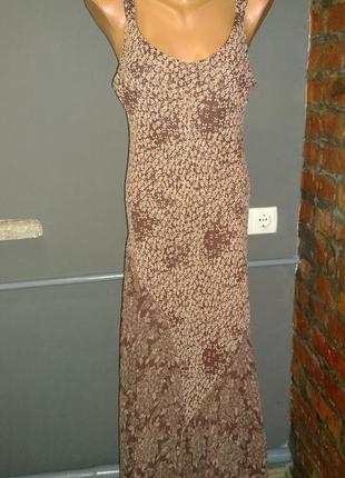 Длинное платье из шифона большого размера marks & spencer