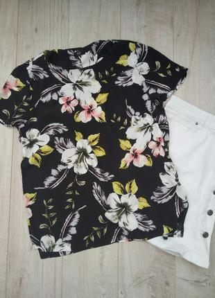 Блуза в тропический принт f&f