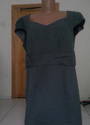 Платье- сарафан в гусиную лапку