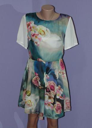 Нежное/легкое платье в розах glamorous
