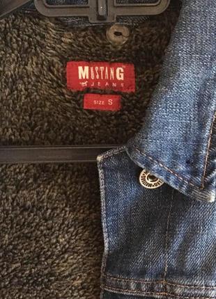 Джинсовая куртка внутри с мехом