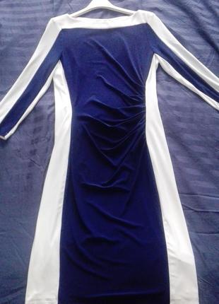 Плаття синьо-біле