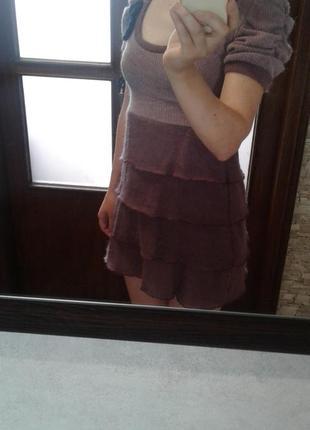 Милое, мягенькое платье, сукня made in italy 36,38 р.