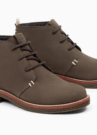 Кожаные ботинки zara. размеры 36, 37, 39