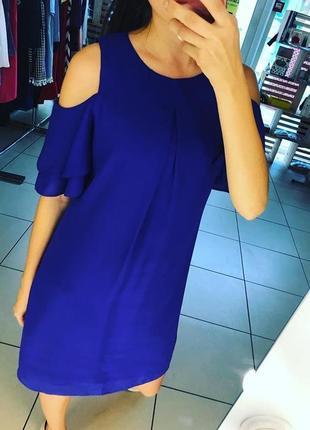 Платье в цвете синий-электрик