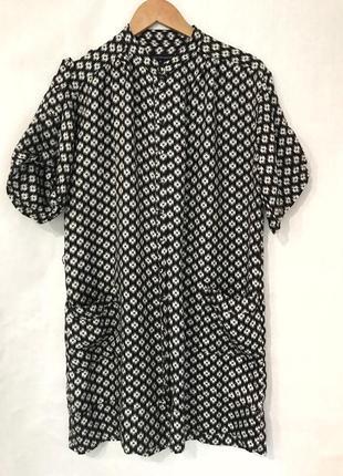 Платье рубашка туника шёлк french connection