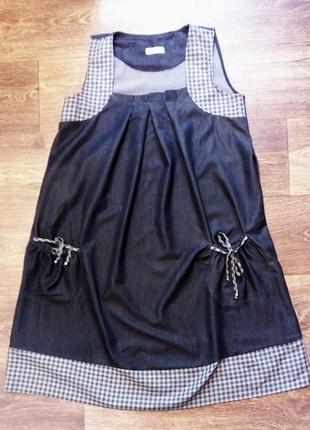 Платье сарафан для беременных mama style демисезонное