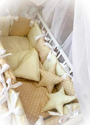Красивое хлопковое постельное в кроватку