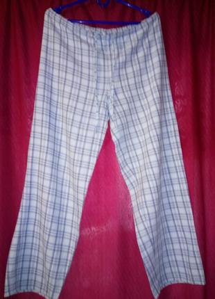 Домашние пижамные брюки в в клетку 12/14.распродажа.