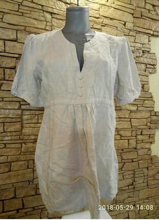 Натуральная,льняная рубашка,блуза 48-50р