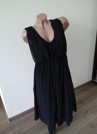 Платье платице сарафан черное размер л 12