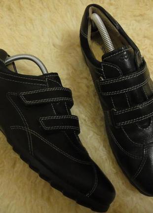 Кожаные туфли ботинки женские ecco р. 39 стелька 25 оригинал