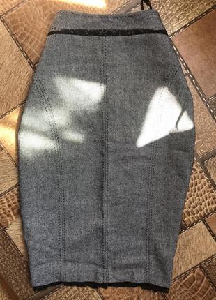 Миди юбка, юбка карандаш, шерстяная юбка