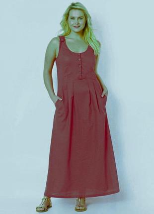 Льняное платье сарафан tallissime от la redoute(франция)