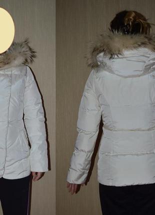 Пуховая демисезонная куртка baon с отстегивающимся капюшоном, xxs-xs