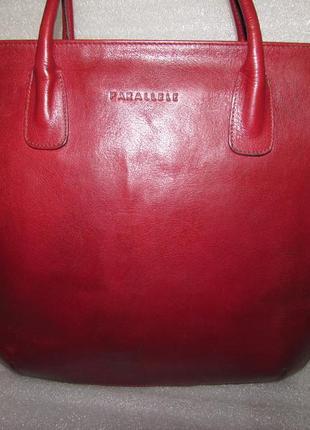 Большая сумка 100% натуральная кожа ~parallele~ италия
