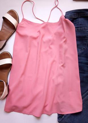 Розовая маечка