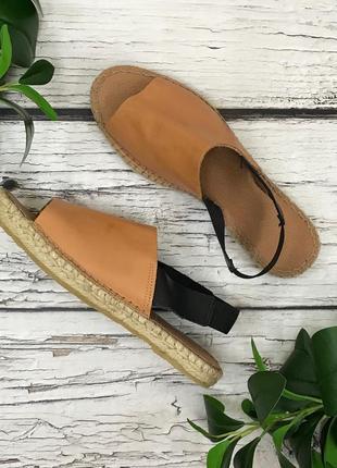 Фирменные сандалии из натуральной кожи с джутовой отделкой подошвы  sh1831036