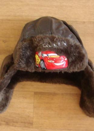 Disney шапка ушанка зимняя размер 52 mc queen тачки