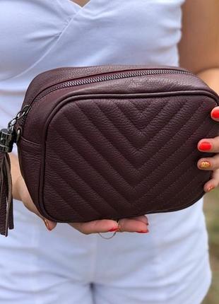 Кожаная сумка из италии (натуральная кожа)