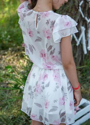 Купить летнее платье для девочки шифоновое kiz польша