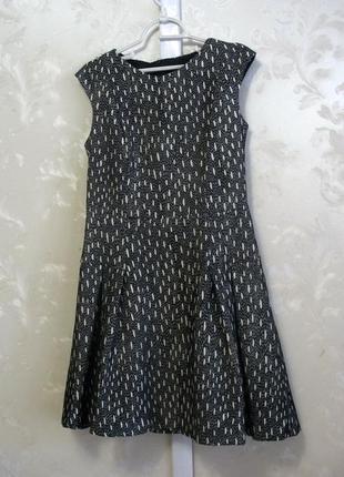 Плотное коттоновое платье zara basic