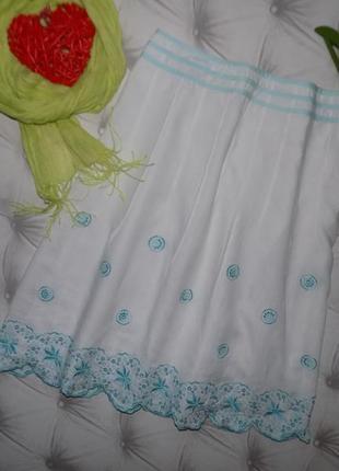 100 % лён, красивая юбка