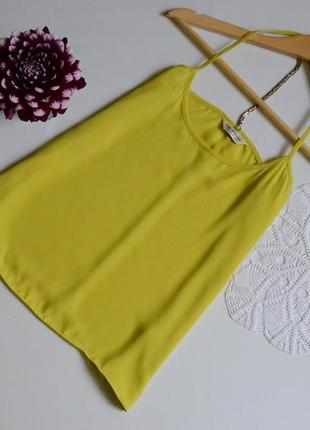 Майка на брительках лимонна miss selfridge
