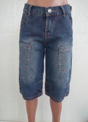 Классные джинсовые бриджи
