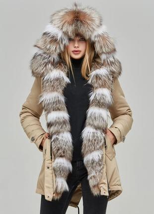 Зимняя парка/куртка с натурального меха arnage ar-1b бежевый