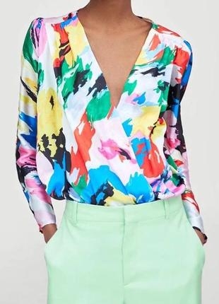 Блуза боди разноцветная