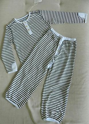 Полосатая пижама для мальчика 5 лет