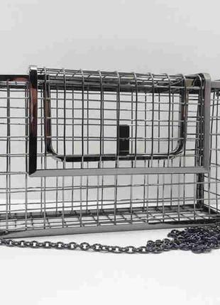 Сумка металлическая клетка клатч