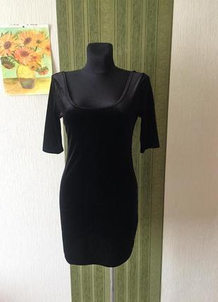 Вечернее бархатное платье new look